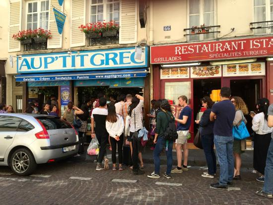AuP'titGrec,  68 RueMouffetard  , crêpes, Paris
